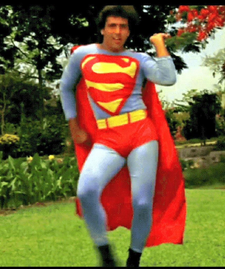 Govinda in Superman costume.